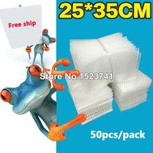 50 pièces 250x350mm film plastique enveloppe blanc bulle emballage sacs PE clair bulle sac antichoc sac double film bulle sac
