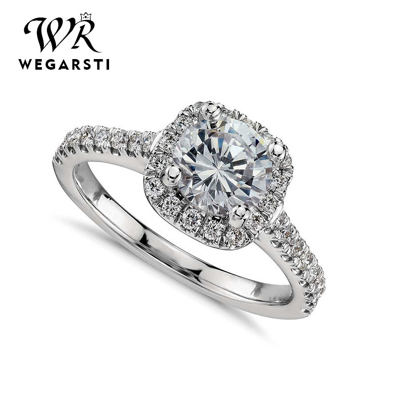 WERGARSTI Big Cubic Zirconia Octagonal Ring Fashion Wedding 925 Silver Jewelry Female Engagement Ring Female Crystal Silver Ring