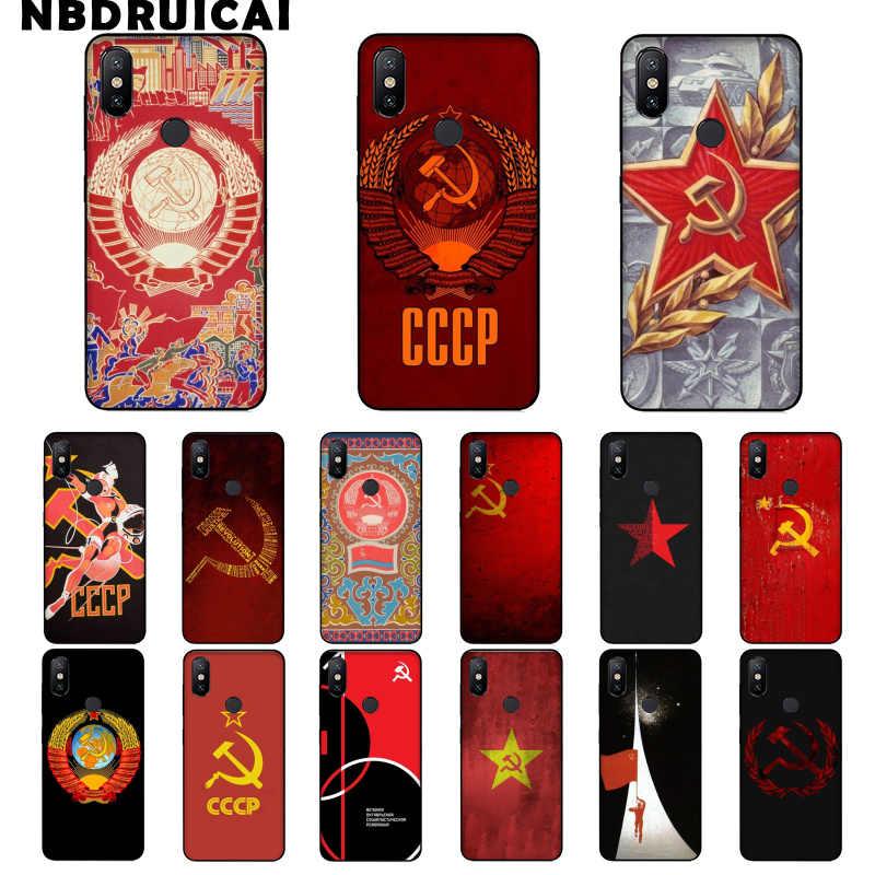União soviética urss grunge bandeira pintado macio silicone caso do telefone capa para xiaomi 8 9 se 5x redmi 6pro 6a 4x7 5plus nota 5 7 6pro