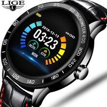 LIGE 2020 New Smart Watch Men Waterproof Sport Heart Rate Blood Pressure Fitness Tracker Smartwatch Pedometer reloj inteligente недорого