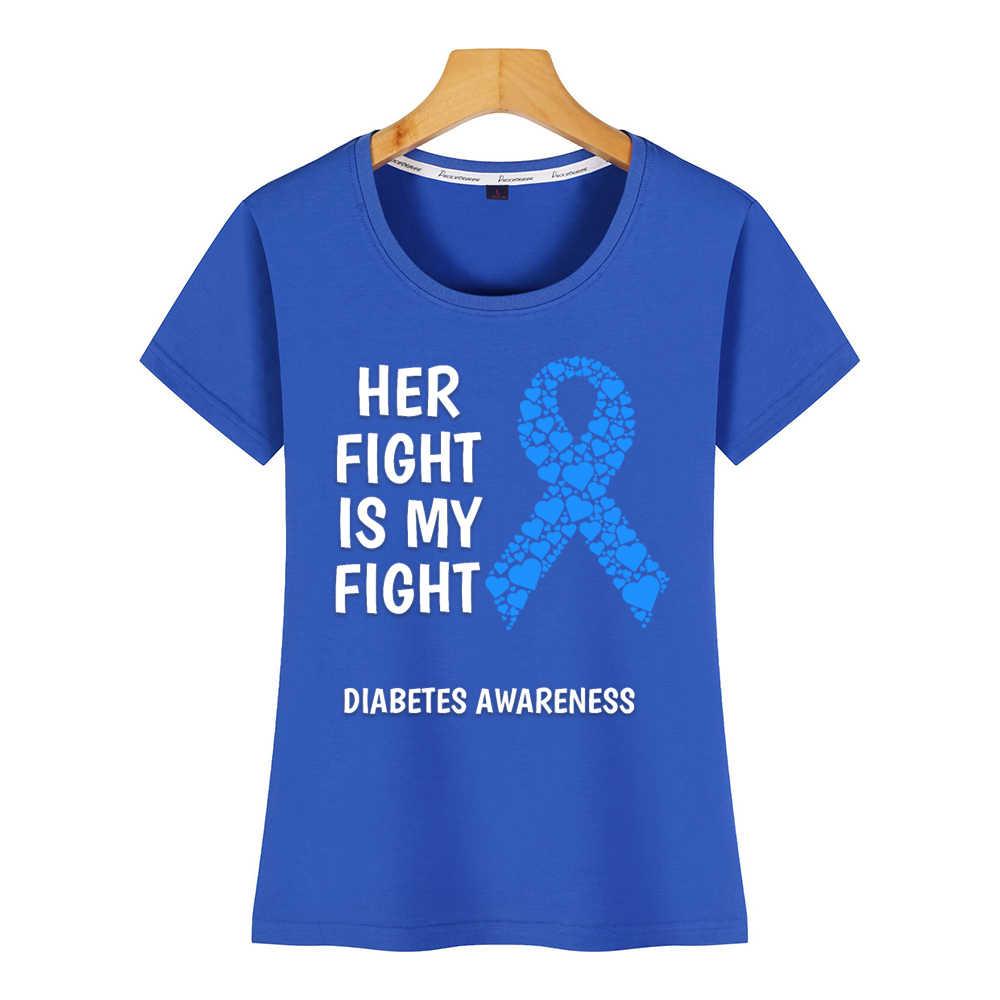 トップス tシャツ女性糖尿病彼女戦いは私戦いヴォーグヴィンテージカスタム女性の tシャツ