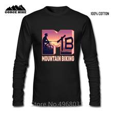 Geek Ontwerp MTB Logo Mountainbiken Outdoor Jas Maximale oefening T-shirt Hombre X-games winter Mannen t-shirt Katoen comfortabele(China)