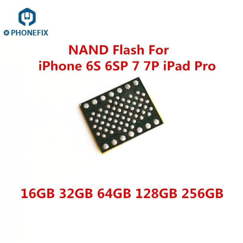 Memória flash do nand de hdd ic chip com o código desbloqueado do número de série sn para o iphone 6s 6sp 7 7p 32g 64g 128g 256g chip de memória