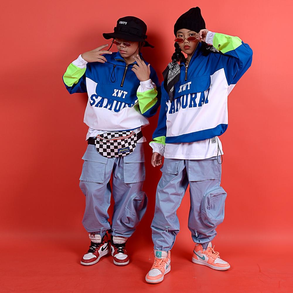 Kids Hip Hop Clothing Boys Sweatshirt Jogger Pants Girls Jazz Dance Costumes Set Ballroom Dancing Clothes Stage Outfits DQS3282
