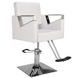 Новое парикмахерское кресло белое из искусственной кожи парикмахерское кресло Стрижка волос гидравлическая мебель для салона