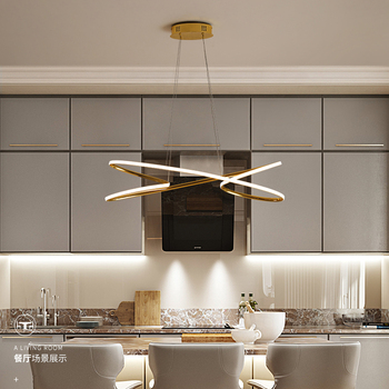Gold Chrome Finished Modern led chandelier for dining room kitchen room home decorative hanging chandelier fixtres free shipping 2