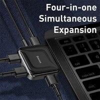pc עם Baseus HUB USB 2.0 Multi 4 ב 1 USB Port Hab Expander מפצל USB HUB מתאם עם מיקרו עבור מחשב נייד PC מחשב אביזרים (3)