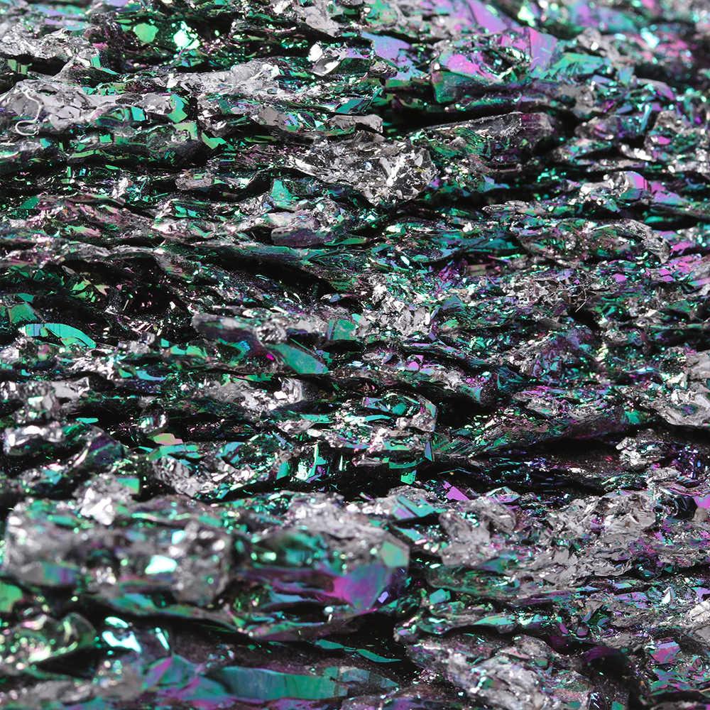 1PC カラフルなオーラマラカイト鉱石天然石クリスタルヒーリングストーンミネラル標本デスクトップの装飾品 Diy の付属品家の装飾