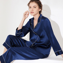 New 100% Natural silk sexy lingerie satin silk pajamas for women pyjamas women sleepwear