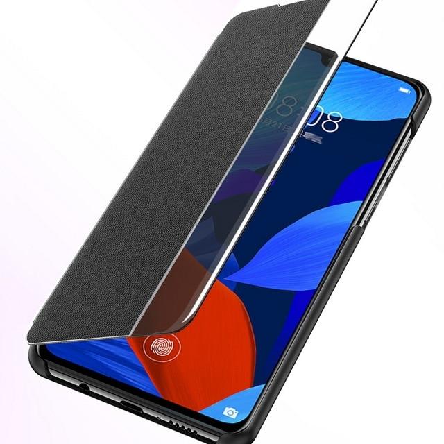 Étui à rabat intelligent pour Huawei P40 P30 P20 lite Nova 5T Mate 20 30 Pro Y9 Prime 2019 housse de fonction