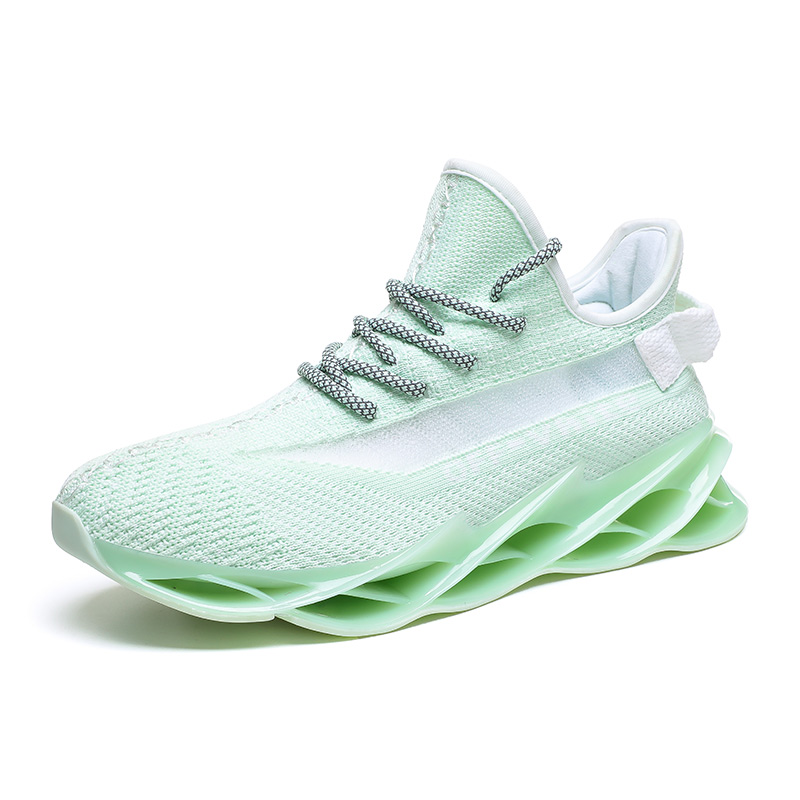 Новинка, мужские кроссовки для бега, бега, прогулок, спорта, высокое качество, на шнуровке, дышащие кроссовки - Цвет: G97Green