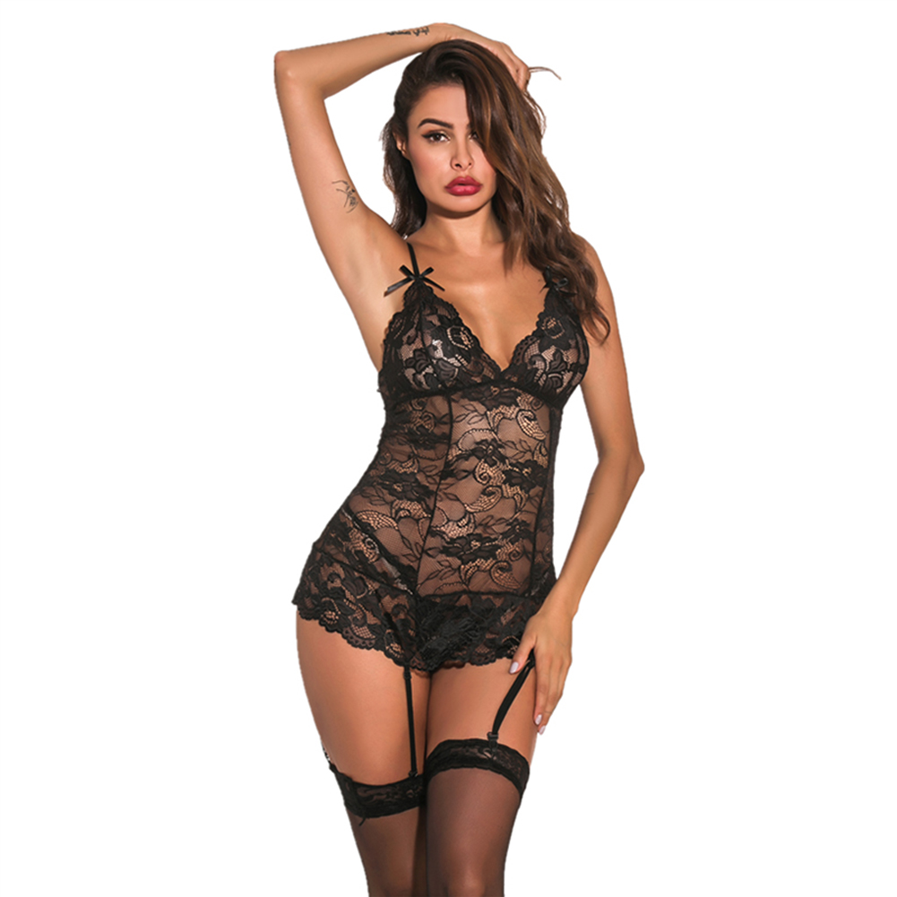 Porn Sexy Lingerie Women Hot Erotic <font><b>Baby</b></font> <font><b>Dolls</b></font> Dress Women Teddy Lenceria Sexy <font><b>Mujer</b></font> <font><b>Sexi</b></font> Babydoll Underwear Sexy Costumes image