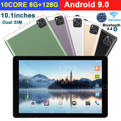 2020 neue 10 inch Tablet Pc Android 9,0 8G + 128G Wifi Tablette 3G Anruf Dual SIM Dual Kamera GPS Bluetooth Android Tabletten