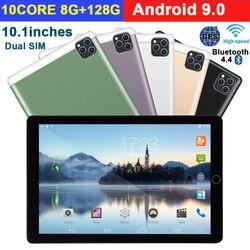 2020 nuevo 10 pulgadas Tablet Pc Android 9,0 8G + 128G Wifi Tablet 3G llamada de teléfono Dual SIM Dual Cámara GPS Bluetooth tabletas Android