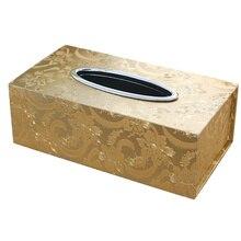 Кожаная Автомобильная домашняя Прямоугольная форма коробка для салфеток элегантная Съемная модная домашняя гостиная стол держатель для салфеток