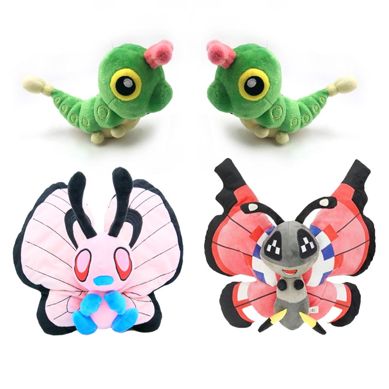 Butterfree Plush Doll Caterpie Evolution Toy Lovely Vivillon Stuffed Hobby Collection Back To School Gift For Schoolmate
