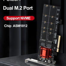 Adapter Riser-M2 Nvme Expansion-Card Pcie SSD Nvme-Converter-Extension ASM1812 2-Port
