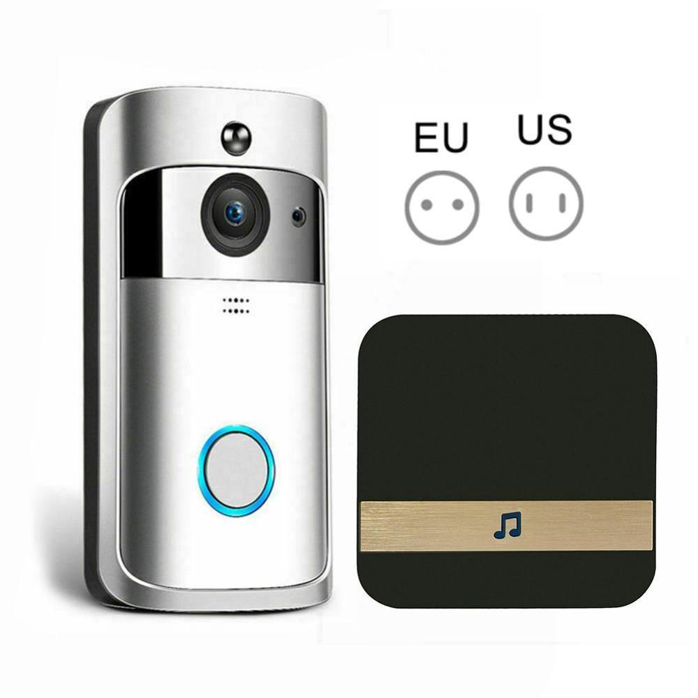 WiFi Video Doorbell  Black Smart IP Video Intercom WI-FI Video Door Phone For Apartments IR Alarm Wireless Security Camera