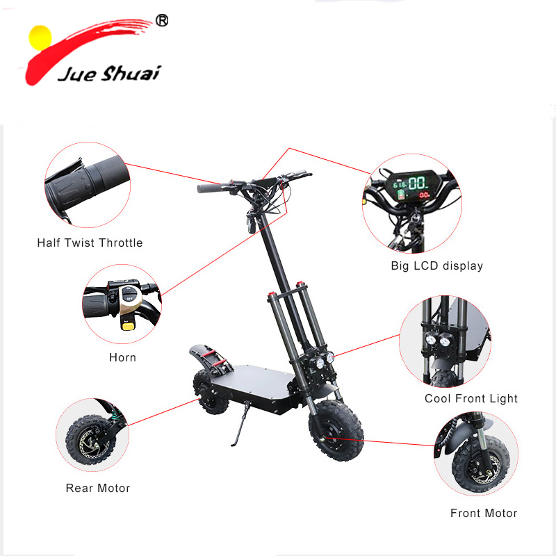"""11"""" 60V 3200W Lithium Battery Electric Scooter LCD Long Distance 105km E Scooter Electric Skateboard Patinete Electrico Adulto"""