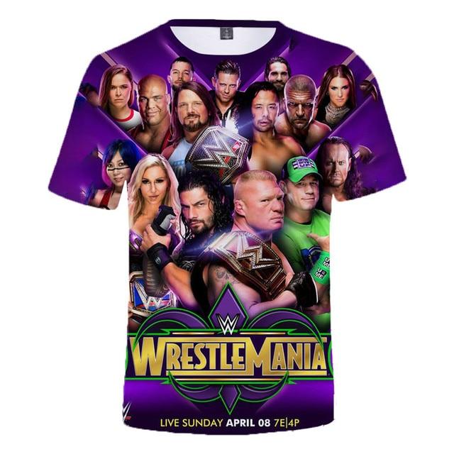 2021 Summer New WWE John Cena Summer T-shirt Kids Women 3D Effect Men T-shirt Street Clothing Dray Anderson Johnson Anime 4