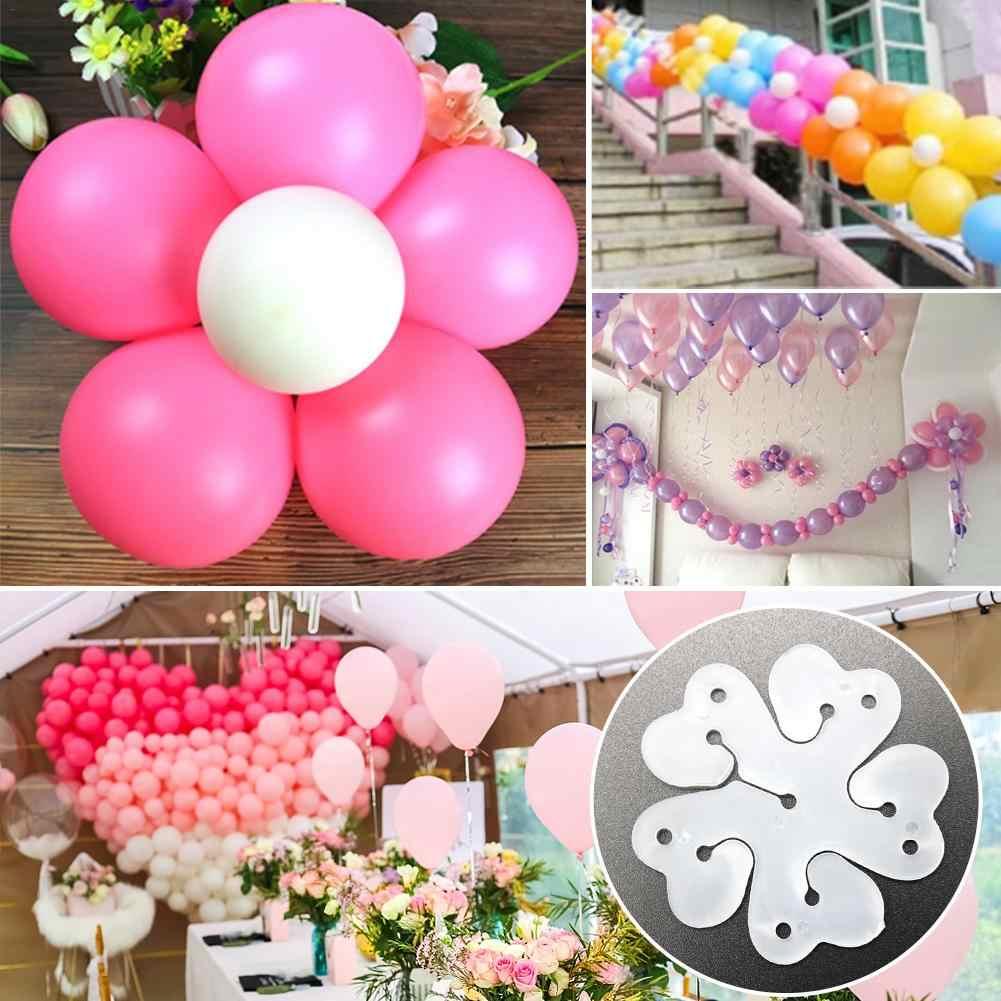 10 ピース/ロットプラスチックバルーンクリップ装飾バルーン結婚式誕生日パーティーの装飾バルーンクリップステッカーアクセサリー