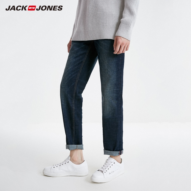 JackJones Men's Loose Straight Fit Jeans Streetwear 219132553