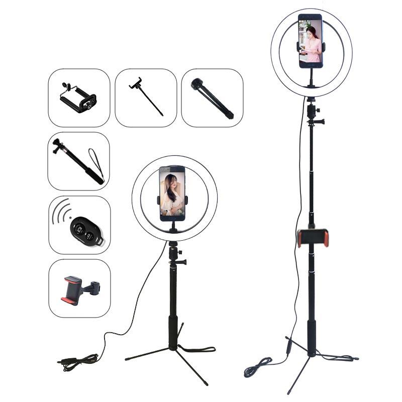 10inch LED Selfie Ring Light Studio Photography Photo Fill Ring Light with Tripod for iphone Smartphone Makeup Fill Light