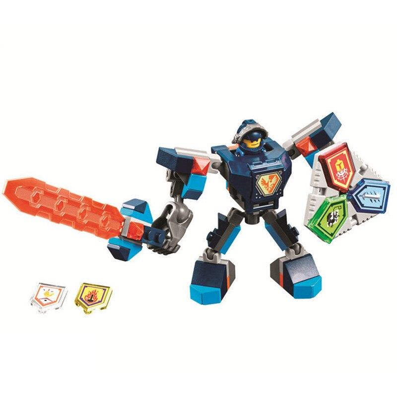 BELA 10585-10589 Legoinglys Nexus Knights Building Blocks Set Macy Aaron AXL Lance Clay Battle Suit Kids Bricks Toys