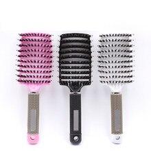 Escova de cabelo original pente de cabelo mágico desembaraçar escova de cabelo desembaraçar piolhos massagem pente feminino emaranhado cabeleireiro salão 2020