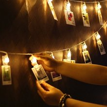 1/2/3M LED Photo Clip Strip Light Fairy Hanging Pictures for Home Baby Shower Party Wedding Decoration Garland Natal