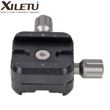 XILETU QR 50B Aluminum Alloy Tripod Head Clamp Two Way Type Quick Release Plate Clamp for ARCA SWISS