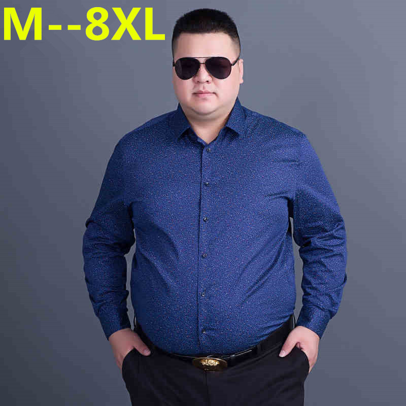 10XL 8XL 6XL Casual Shirts Men Fashion Long Sleeve Plaid Shirt Camisa Masculina Men Shirt Solid Color Shirt Male Brand Clothing