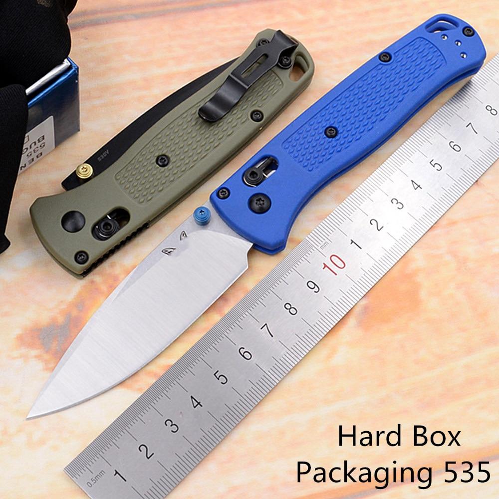 JUFULE New 535/535S Serrated Polymer Fiber Mark S30v Blade Folding Pocket Survival EDC Tool Outdoor Camping Hunting Hike Knife