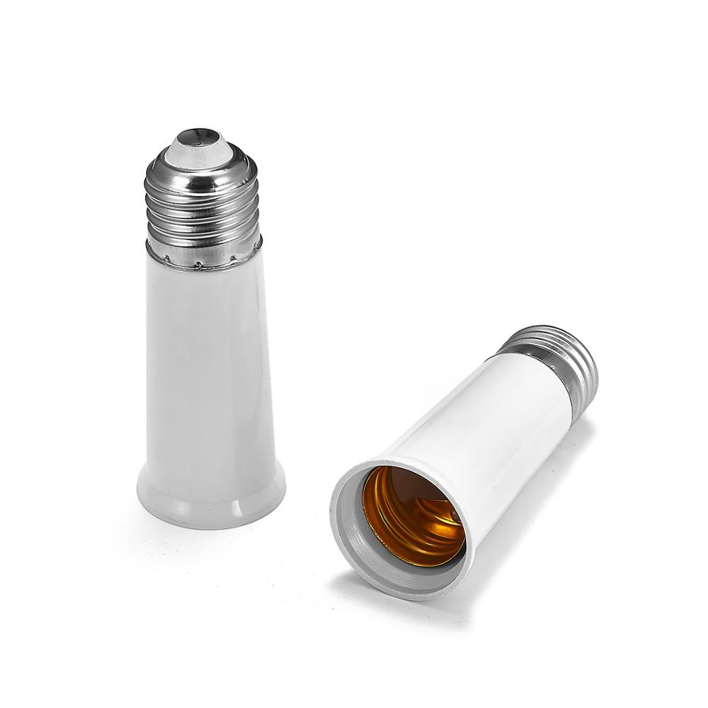 E27 To E27L Extend Adapter E26 To E26L Extension Lamp Adapter Holder Converter Lamp Base Socket LED Light Bulb Holder Plug