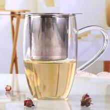 1 قطعة الشاي Infuser الفولاذ المقاوم للصدأ مصفاة شاي حقيبة معدنية تصفية عشب التوابل تصفية الناشر مقبض الشاي الكرة القرش شكل بجعة