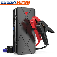 Suaoki 3 in 1 Rechargeable Car Boost Jump Starter USB QC 3.0 Type C Phone Charging Power Bank Led Flashlight 16000mAh Battery