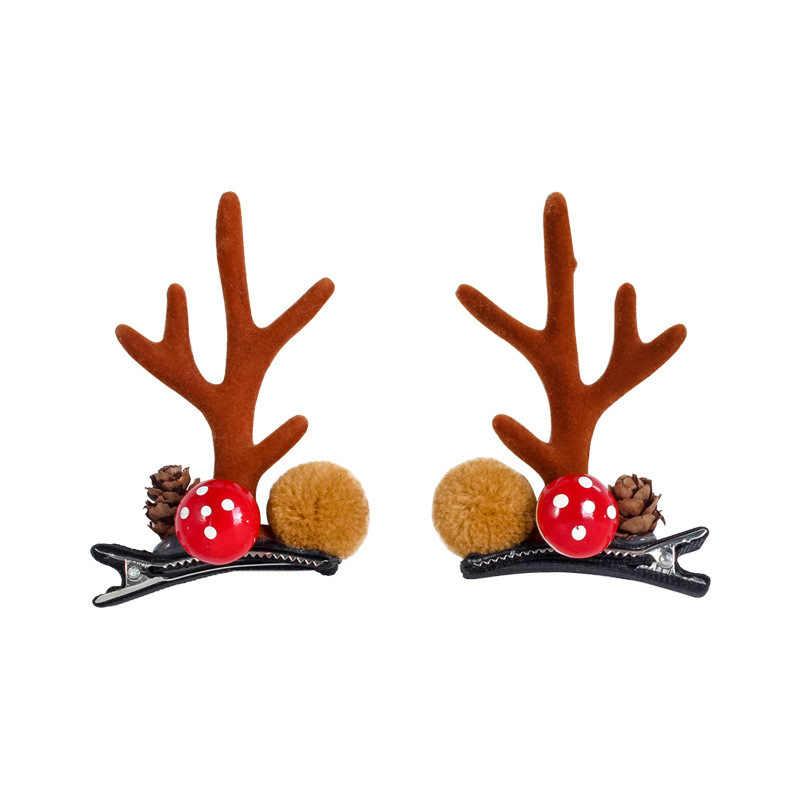 Nuevas astas pinzas navideñas para cabello para niñas a la moda horquillas hechas a mano para la cabeza niños pasador de cabello para Niños Accesorios para regalo