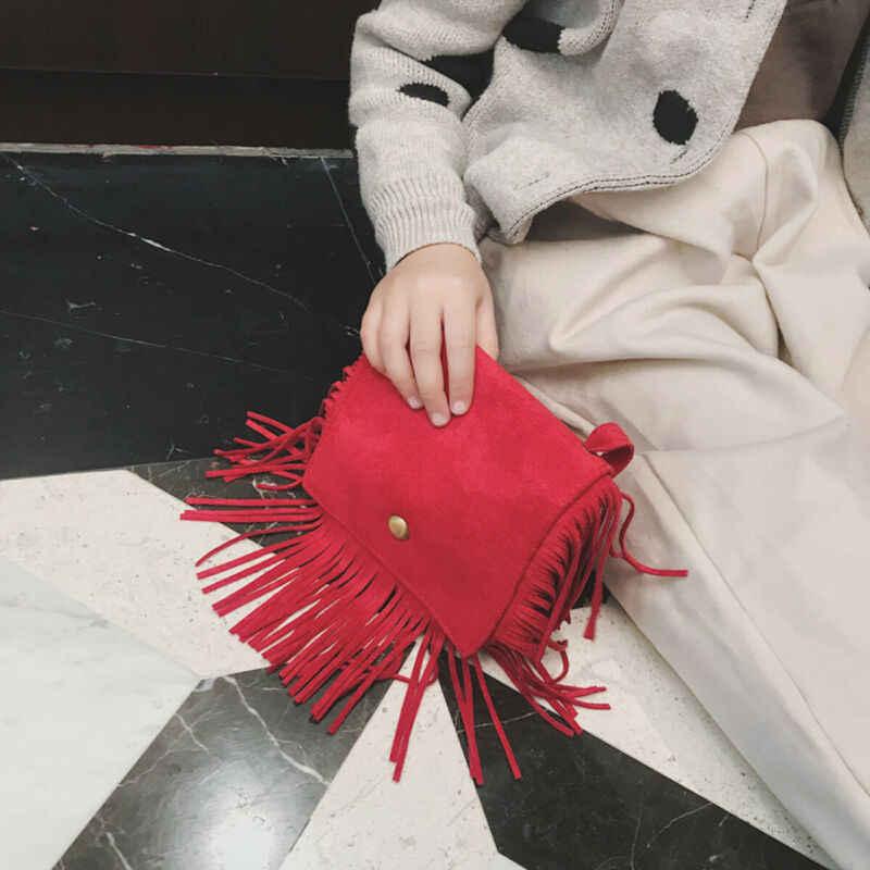 2020 ファッションタッセルミニメッセンジャーバッグキッズガールズハンドバッグコイン財布子供のショルダーバッグ