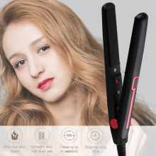 2 in 1 Mini Professional Hair Curler Hair Straightener Flat Iron Hairs Straightening Corrugated Iron Curling Tong Styling Tool hair country 2 in 1 hair straightener flat iron electronic straightening corrugated curling crimper corn plate styling tools