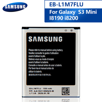 Samsung Original EB-L1M7FLU Battery For Samsung Galaxy S3Mini S3 Mini I8190 I8190N i8200 Replacement Phone Battery 1500mAh original samsung eb l1m7flu battery for samsung galaxy s3 mini s3mini i8190 gt i8200 gt i8190 i8190n nfc 1500mah