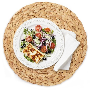 Round Woven Rattan Table Mat Rattan Placemats Dining Table Mat Water Gourd Placemat Round Pad Dining Table Mat Straw Cup Coaster