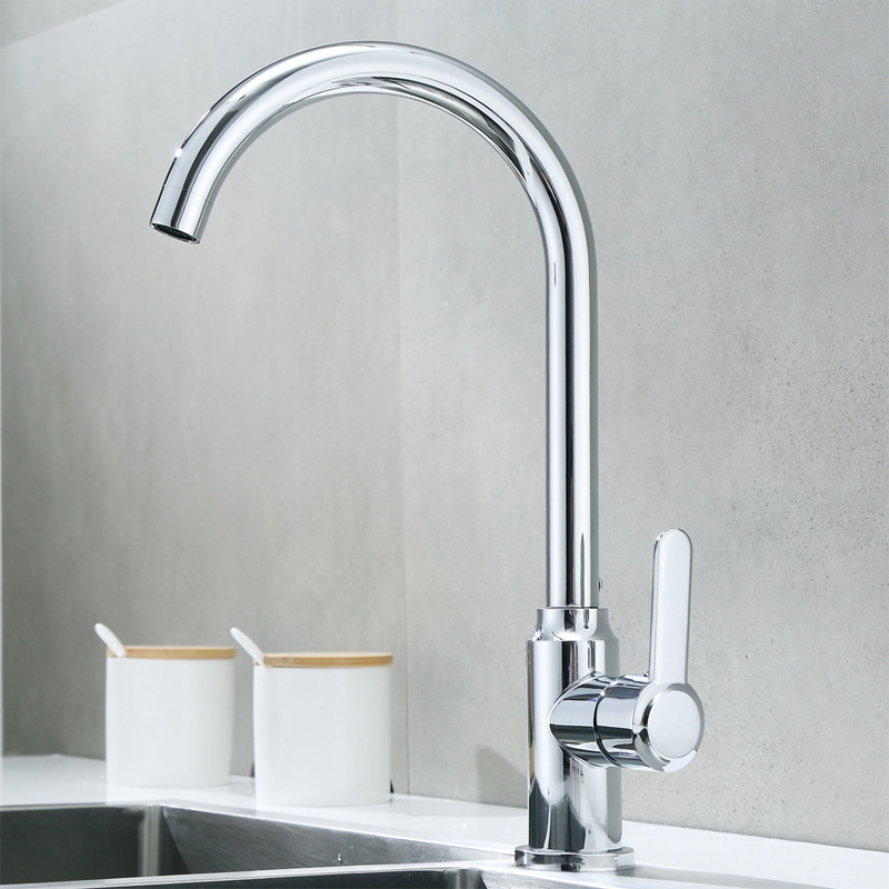 Kitchen Faucet Hot And Cold Washing Basin Sink Household Wash Dishes Sink 304 Stainless Steel Rotating Sanitary Ware Manufacture
