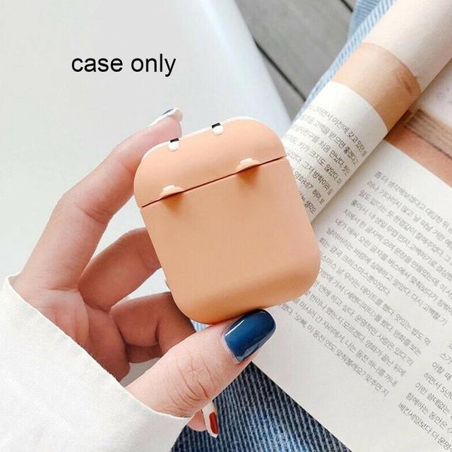 Фото чехол для наушников airpods1/2 милый силиконовый мягкий защитный