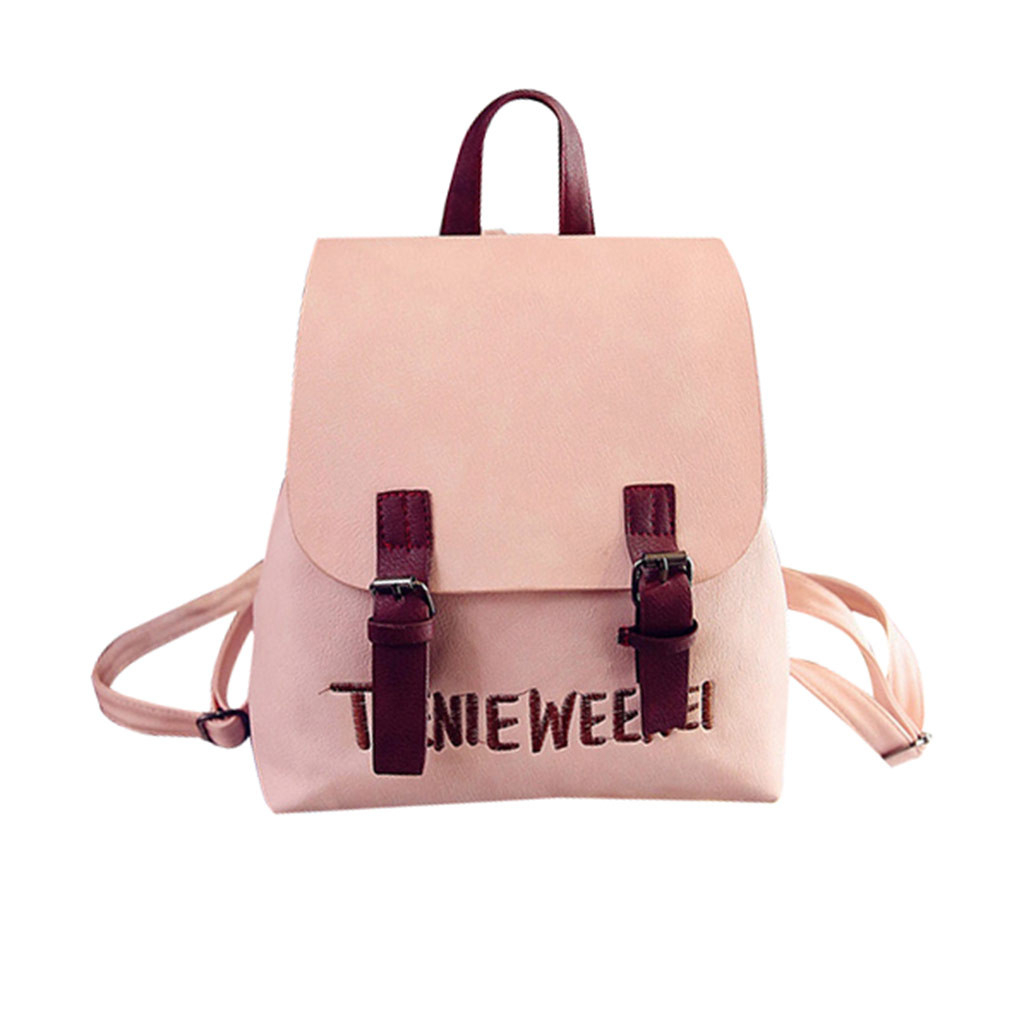 Mini <font><b>Backpack</b></font> Women Fashion Wild Bag Student PU <font><b>Leather</b></font> Shoulder School Bag For Teenage Girls Fashion Female Ladies 828 image