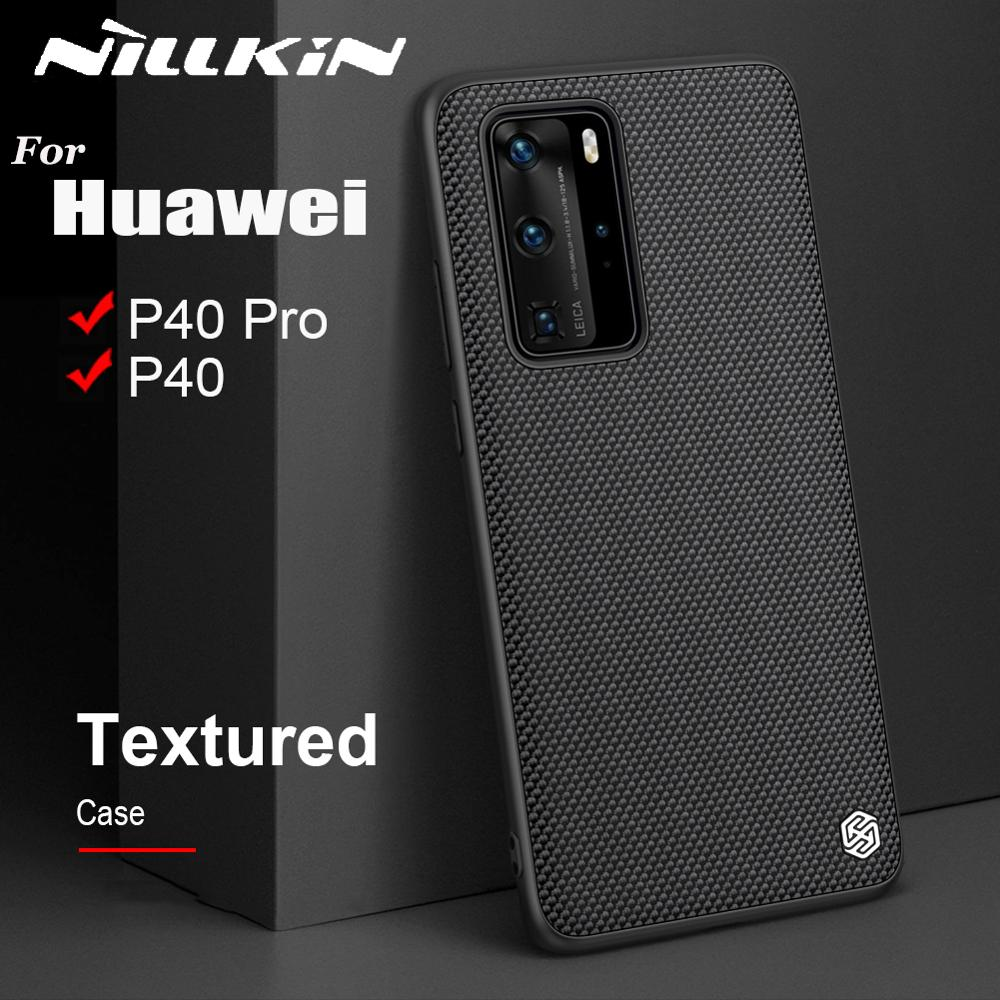 Case for Huawei P40 P40 Pro Case NILLKIN Textured Hard PC Soft TPU Luxury Non-Slip Full Cover Phone Cases for Huawei P40 Pro Bag