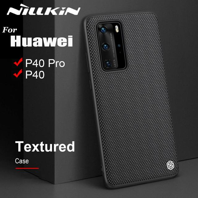 Case for Huawei P40 P40 Pro Case NILLKIN Textured Hard PC Soft TPU Luxury Non Slip Full Cover Phone Cases for Huawei P40 Pro Bag