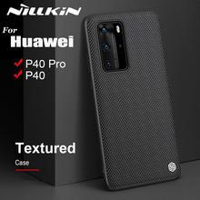 Kılıf için Huawei P40 P40 Pro durumda NILLKIN dokulu sert PC yumuşak TPU lüks kaymaz tam kapak telefon kılıfları için Huawei P40 Pro çantası