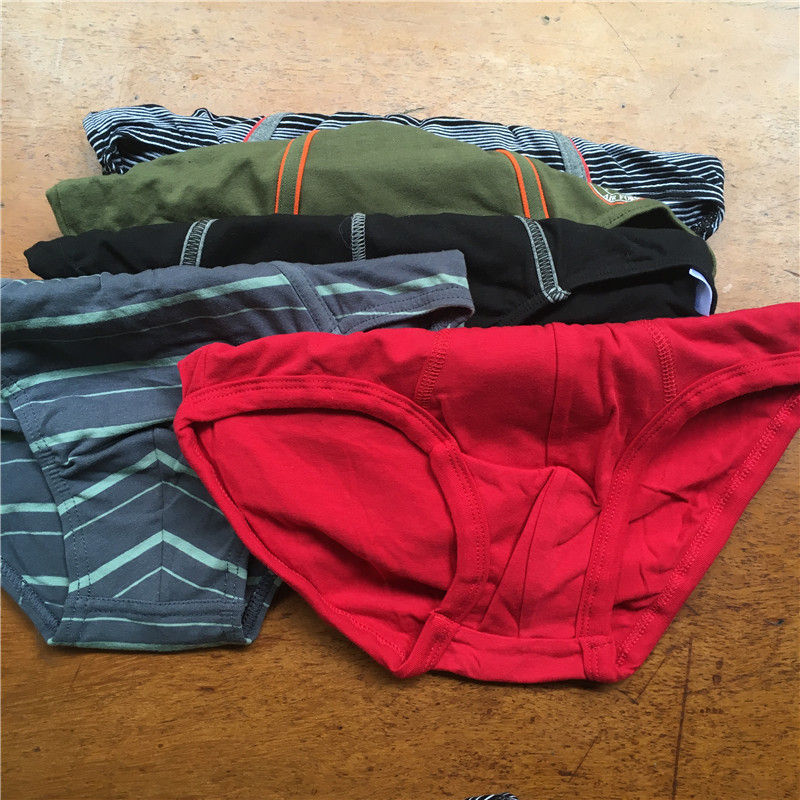 30pcs Wholesale Teenage Boy Brief Underwear 14T-20T Boy Mixed Styles Cotton Soft Male Brief Man Quality Underpants Size S M L