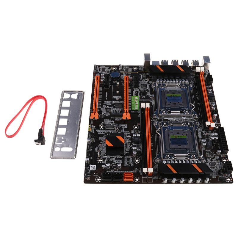 2020 New X79 Dual CPU LGA2011 Motherboard E5 4xDDR3 DIMM Desktop Computer Mainboard M.2