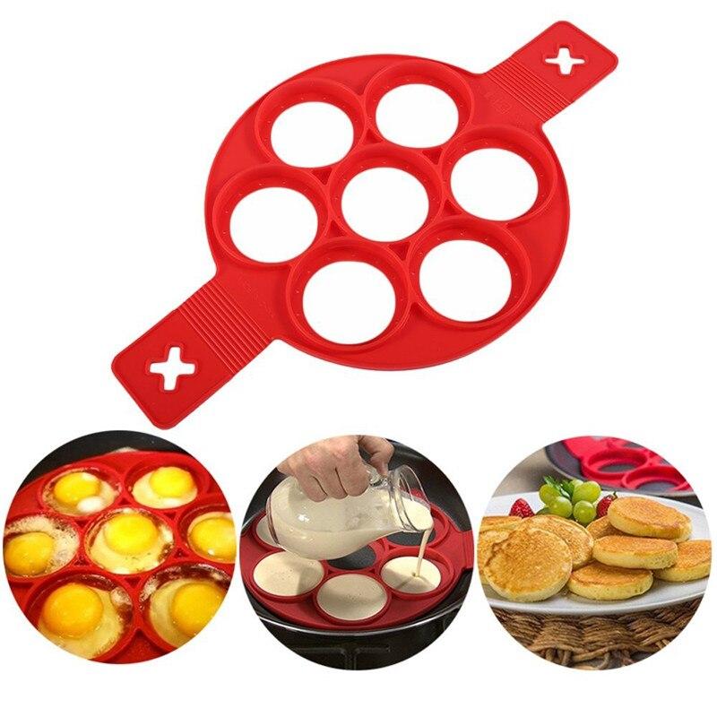 1 pçs silicone antiaderente fantástico ovo panqueca fabricante anel cozinha cozimento omelete moldes aleta fogão